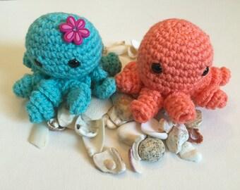 Crochet/Amigurumi Octopus -  Gift Topper/Baby/FriendshipGift - Cute Octopus- Octopus Plush - Amigurumi  Octopus