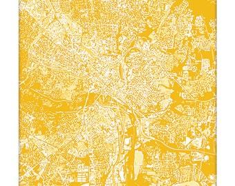 Richmond VA Cityscape Art Print / Virginia Art VCU University Map Poster / 8x10 Grad Gift / Choose your Color