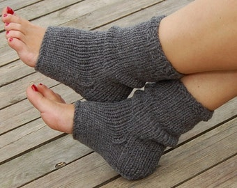 Hand Knit  Pedicure Socks, Toeless Socks, Flip Flop Socks, Heel Socks, Spa socks, Knitted Yoga Socks, Hand Knit Socks for Pedicure