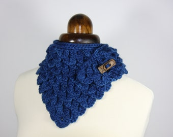 Crochet pattern - Dragon scale neck warmer - Game of Thrones inspired - cowl - collar