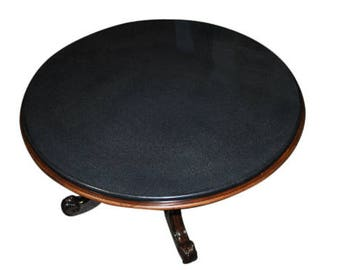 """Showroom Sample Drexel Heritage Granite Top 54"""" Round Dining Table, Mahogany Pedestal, PA4779, Shipping Not Free!!!"""