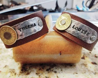 Leather Cuff Bracelets / Thelma and Louise