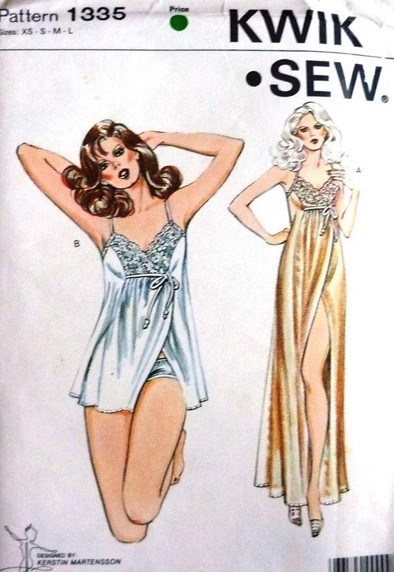 UNCUT Kwik coser 1335, camisón de la mujer y bragas costura patrón ...
