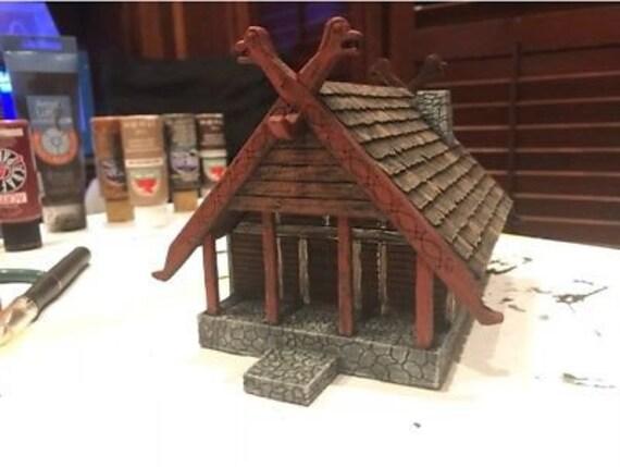 28mm Fantasy Viking House Scenery / Terrain LOTR
