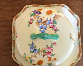 Vintage Losol Ware Covered Butter/Cheese Dish