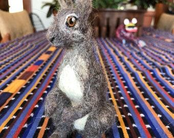 CUSTOM Needle Felted Hare