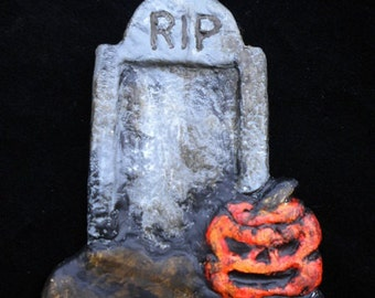 Tombstone and Old Jack Halloween/Christmas Ornament