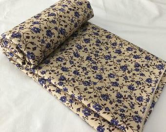 Dreamy blue floral fabric