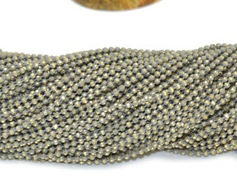 Gray 1.5 mm faceted brass ball chain