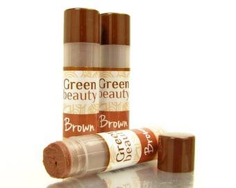 Tinted lip balm, Brown, natural lip balm, sheer lip tint, lip tint, lip balm, colored lip balm, beeswax lip balm, natural cosmetics, YLBB