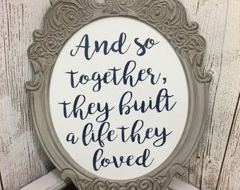 Together Quote Oval Wall Hanging