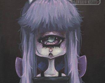 Fairy cylops girl lowbrow gothic fantasy art print big eye pop surreal - Fairy 12