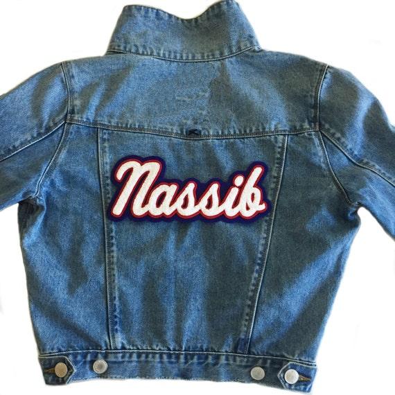 Custom Your Name Jacket - custom jacket - Denim Jacket- Name Jean Jacket - custom denim jacket - denim coat - jean jacket - custom gift PBR1E