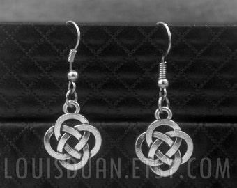 Celtic Knot Earrings -Irish Knot Earrings -Gaelic Earrings -Endless Earrings