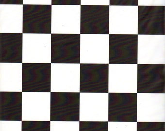 Black and White Checker table cover tablecloth plastic 54 x 108 (2 pieces)
