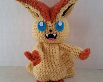 Victini Inspired Plush, Pokemon Inspired Plush, Pokemon Plush, Pokemon Gift, Victini, Amigurumi, Victini Pokemon, Victini Plush, Stuffed Toy