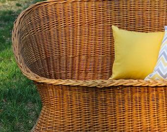 "14"" Sunshine Yellow Zippered Pillow Cover"