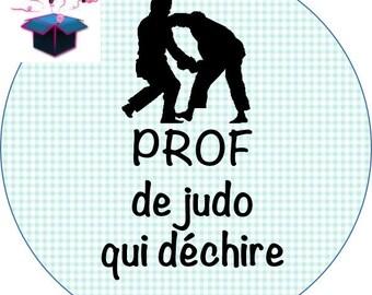 1 cabochon clear 25 mm judo teacher theme
