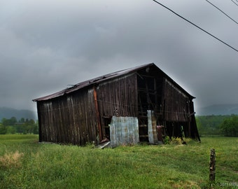 Wears Valley Barn, Yellow Flowers, Storm, Great Smoky Mountains National Park, Landscape, Mountains, Nature Photography