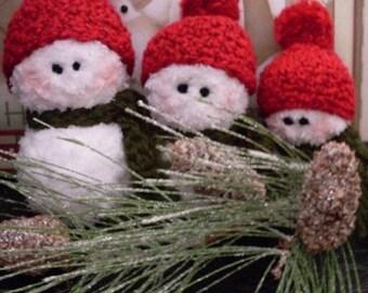 3 Adorable Folkart Crocheted Snowman PDF PATTERN ONLY Thewarehouseshelf
