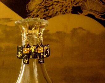 Japanese Origami Kimono Earrings - origami kimono earrings