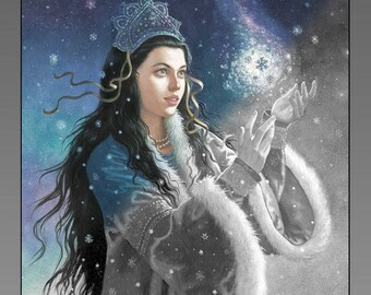 The Snow Princess 24-image Grayscale Adult Coloing Book PDF