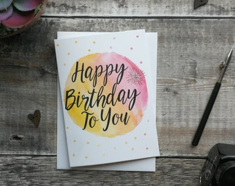 Happy Birthday To You - Greeting Card - Christian Greeting Card