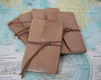 Small leather travel journal / honeymoon gift/ stocking stuffer