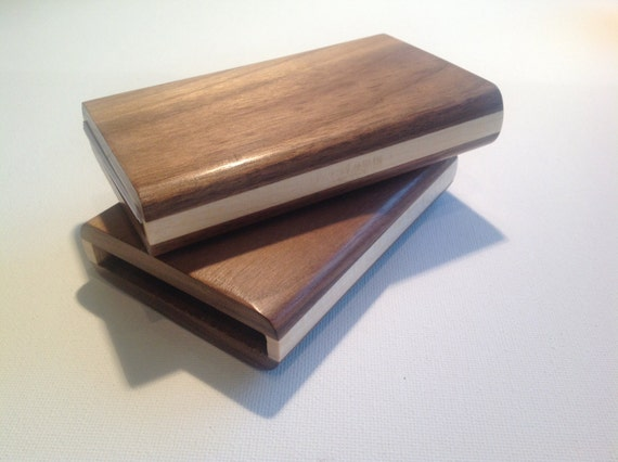 Wood business card holder business card case handmade from colourmoves