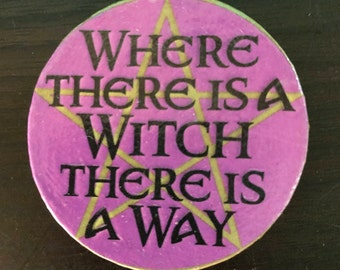 Purple Pentacle Witch Magnet