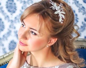 Bridal comb. Wedding Headpiece. Bridal Hair Comb. Bridal Headpiece