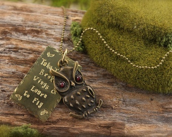 Owl Beatles Inspired Necklace SALE