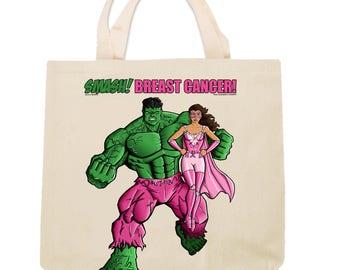 Pink Crusader and Hulk Tote Design 5