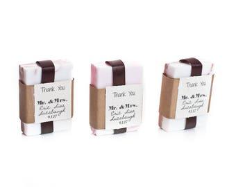 30 bars of 4 oz soap tag and ribbon