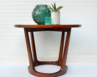 Mid Century Modern Lane Rhythm End Table, MCM, Adrian Pearsall, Drum Table,  Side Table, Refinished Furniture, Living Room