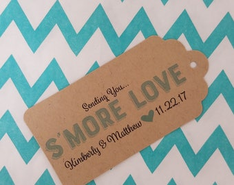 Wedding Gift Tags - Sending You S'more Love - Customizable Personalized (WT1806)