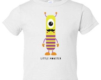 Little Monster number 1 Toddler Tees