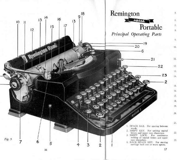 Remington Noiseless 1930s Typewriter Instruction Users Manuals