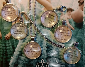The Selection Series Quotes pendant, necklaces, and bookmarks