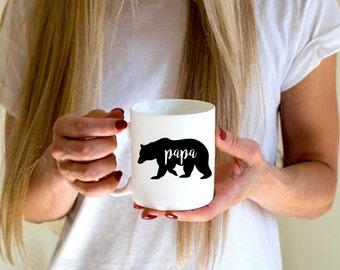 Papa Bear Coffee Mug. Funny Mug. Gift for Dad. Gift for Father Quote Mug. Inspirational Mug. Dad Mug. Father Mug. Husband Mug.