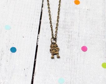 Robot Necklace | Steampunk Jewellery | Geekery | Nickel Free