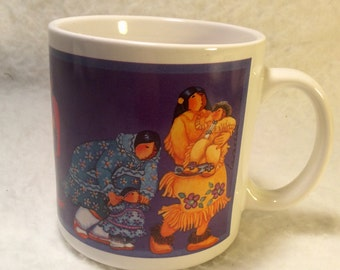 Barbara Lavallee 1991 Northern Images coffee cup mug. Free ship to US