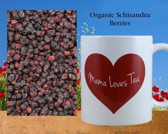 Organic Schisandra Berries, Dried, Adaptogen, Herb Tea, Wu Wei Zi, Herbal, Food Craft Supply, 1 oz