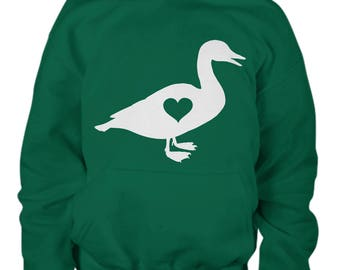 Kids Duck Hoodie, Youth Clothing, Gift for Kid, Farm Lover Clothes, Hoody, Duck Lover, Ducks, Farm Clothes, Duck Sweater, Animals Clothes