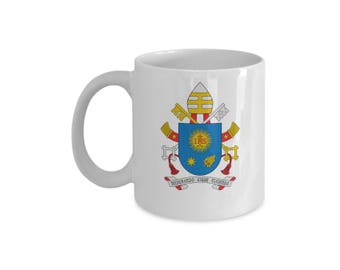 Pope Francis Mug Coat Of Arms And Episcopal Motto