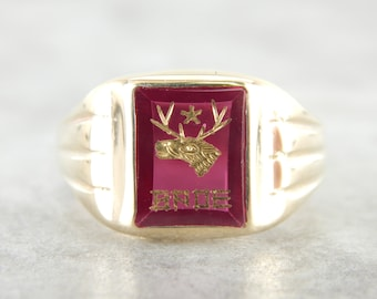 Vintage Benevolent and Protective Order of Elks Ring EXW7FH