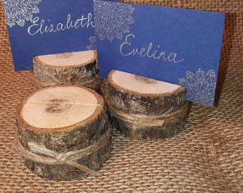 30 pcs small Wood Place card holders Name tag holder Wedding Favors Vintage Rustic Decoration