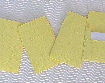 36+ teeny tiny envelope note card sets handmade pollen yellow mini miniature square party favors weddings stationery guest book