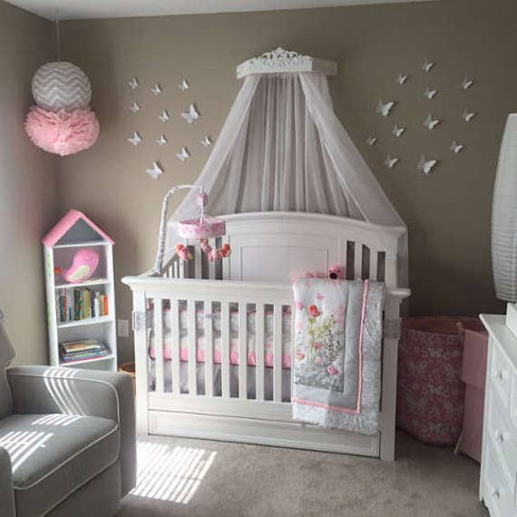 Baby Canopy For Crib: Canopy Bed With Jewels Bed Crown Canopy Princess Nursery