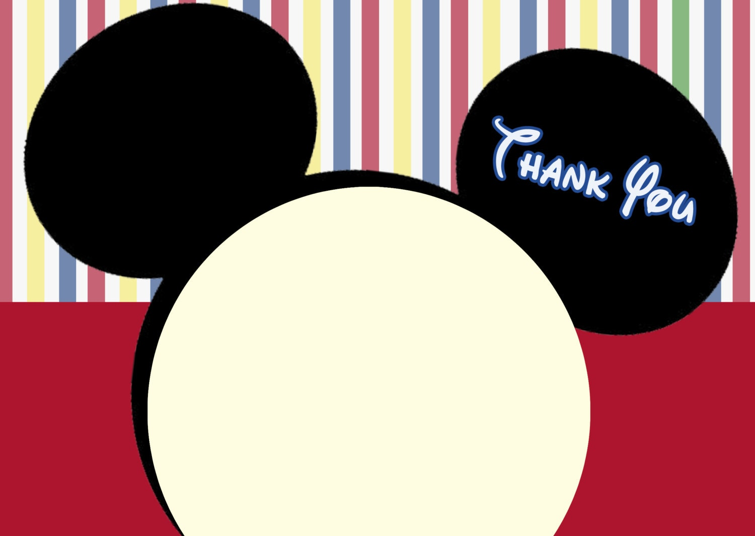 Fantastic Mickey Mouse Clubhouse Thank you cards. Mickey Mouse note ZO51